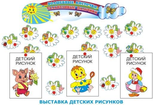 Стенды в детский сад для рисунков своими руками